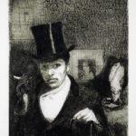 André Jacquemin - Retour de fête (autoportrait)