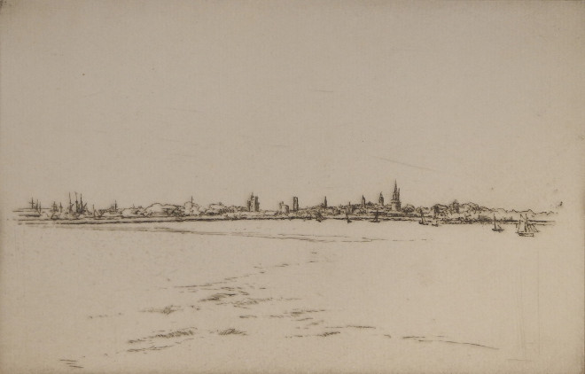 Gustave Leheutre - La Rochelle, vue de la Pointe des Minimes