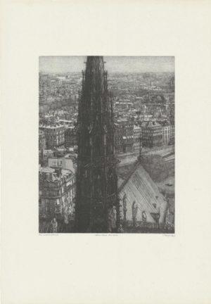 Takuji Kubo - Notre Dame, the spire (la flèche) - Recto